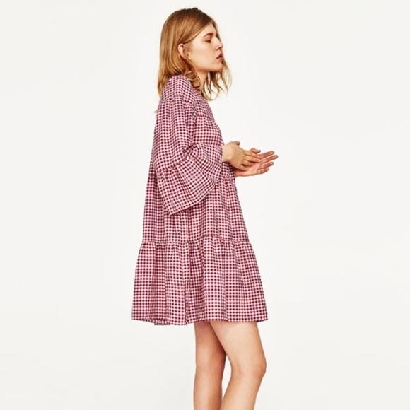 c866675291 Zara Dresses | Red Gingham Dress | Poshmark